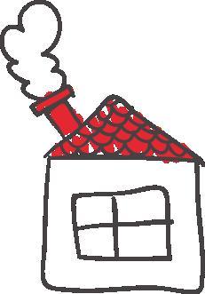 Kreslený domček