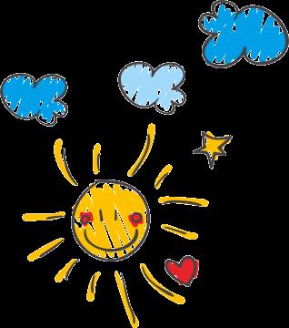 Kreslené slniečko a obloha